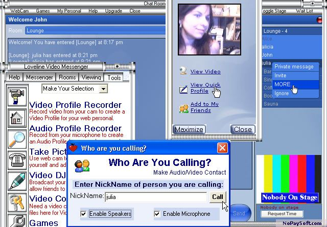 Loveline Video Personals 4.0.1 program screenshot