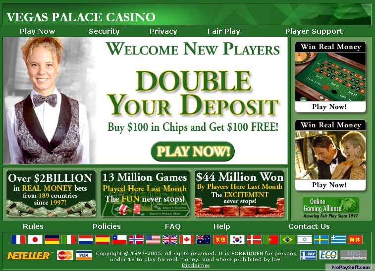 VEGAS PALACE CASINO 2.01 program screenshot