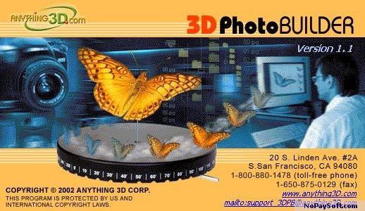 3D Photo Builder Upgrade 1.1 program screenshot