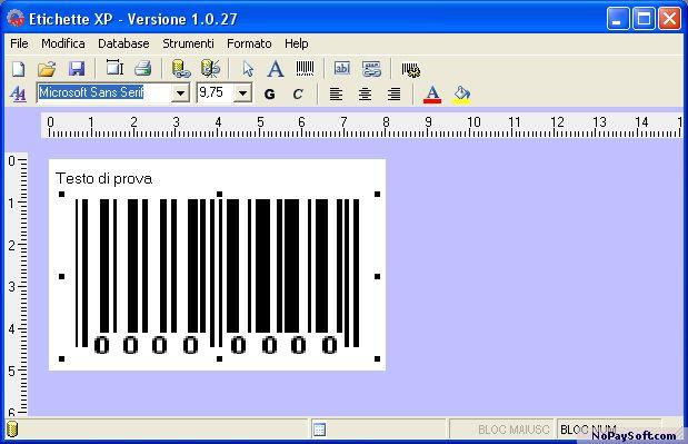 etichettexp 2.0 program screenshot