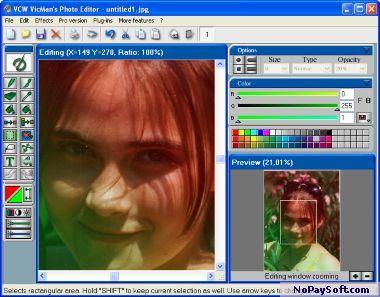 VCW VicMan's Photo Editor 7.84 program screenshot