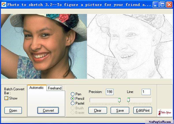 Photo to Sketch 3.51 program screenshot