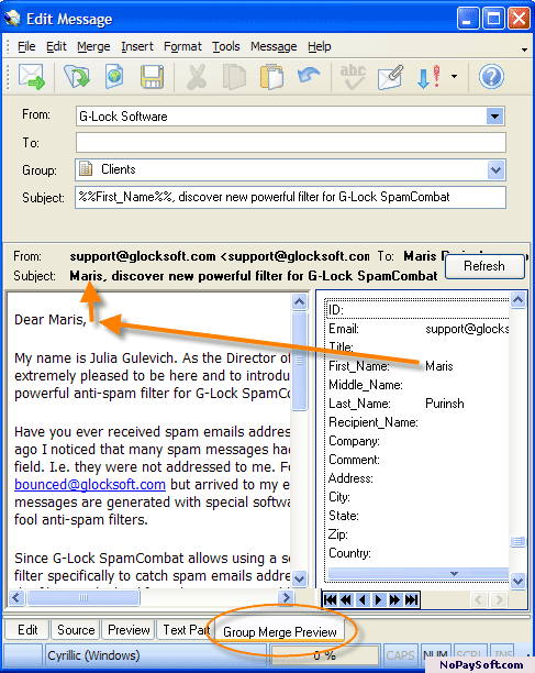 G-Lock EasyMail 5 5.10 program screenshot