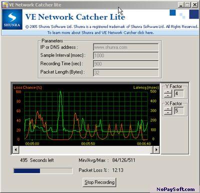 VE Network Catcher (Lite) 4.5 program screenshot