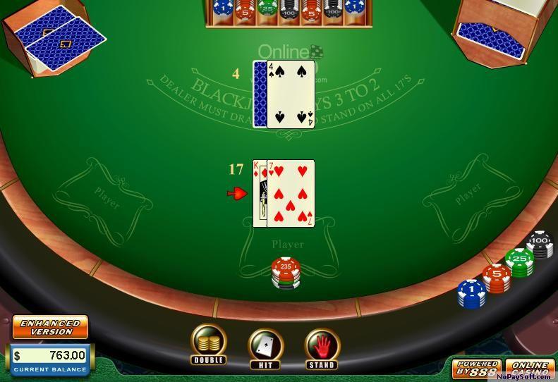 Blackjack Flash 2 program screenshot