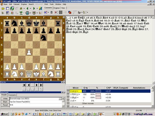 Chess Assistant Light v.7 program screenshot