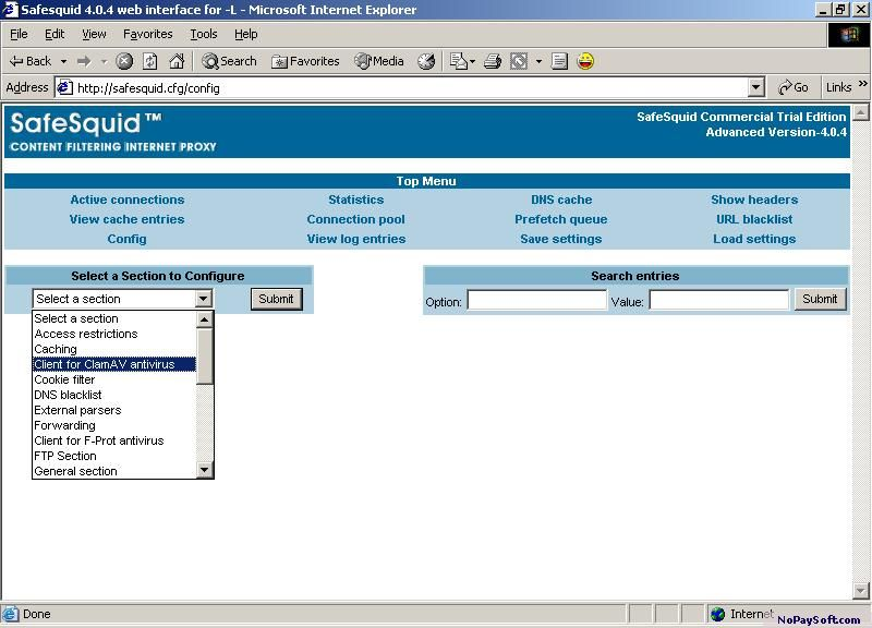 Safesquid proxy server 3.0 program screenshot