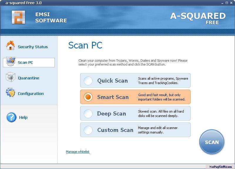 a-squared Free 2.0 program screenshot