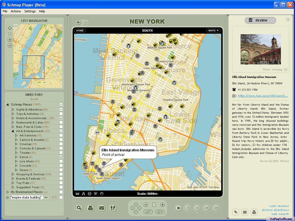 Schmap Player 1 program screenshot