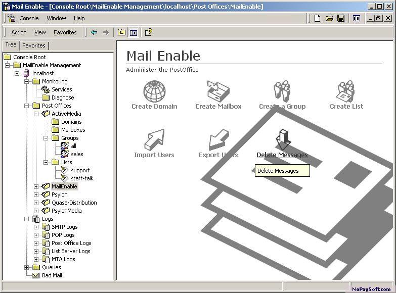 MailEnable Standard 1.8 program screenshot