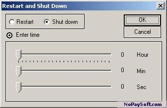 Clock Restart & Shut down 1.0 program screenshot