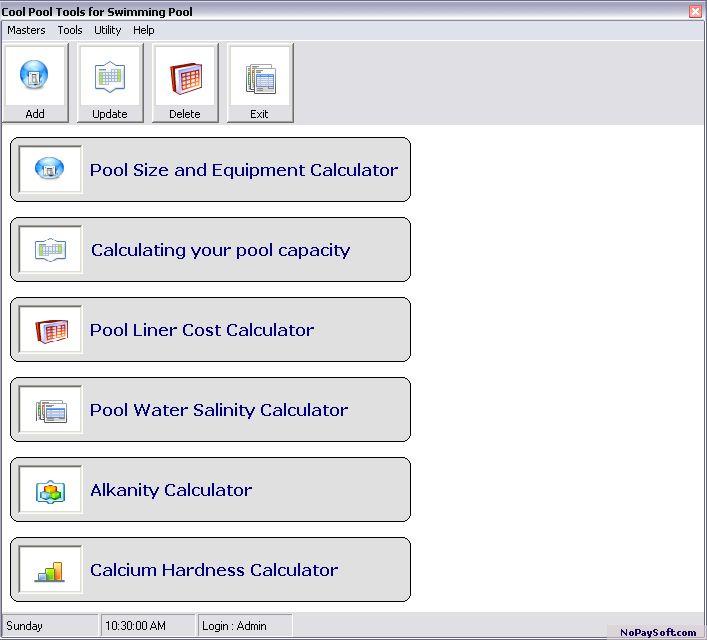 Kool Swimming Pool Tool 1.0 program screenshot