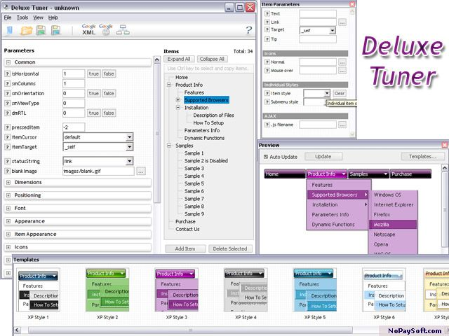 Deluxe Tuner 2.00 program screenshot