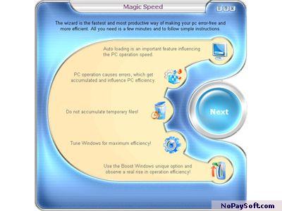 Magic Speed 2.0 program screenshot