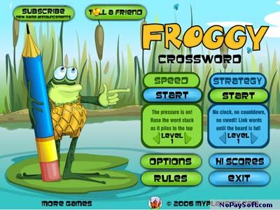 Froggy Crossword 2.0 program screenshot