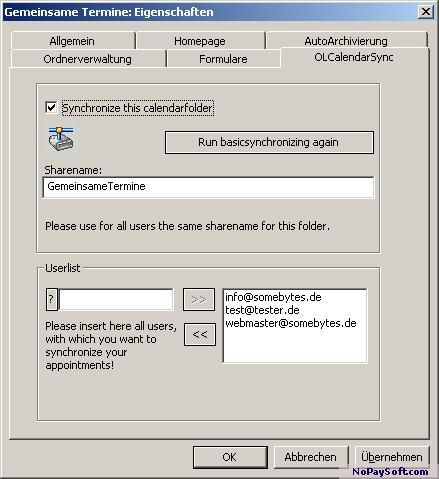 OLCalendarSync 1.03 program screenshot