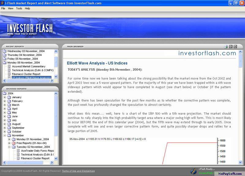 i-Flash Market Alert Software 1.10.1001 program screenshot