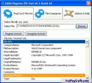 Emsa Register Dll Tool 1.0.48 program screenshot