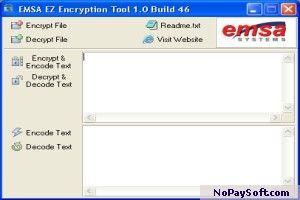 Emsa EZ Encryption Tool 1.0.46 program screenshot