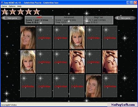 Easy Memory - The memory game 6.01 program screenshot
