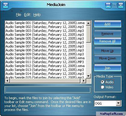 MediaJoin 2.0 program screenshot