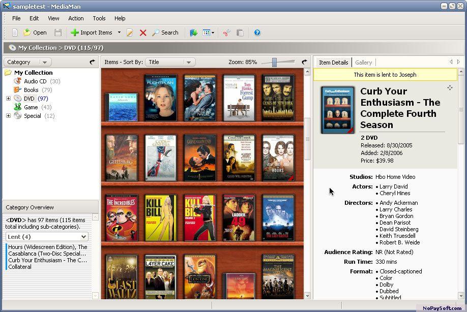 MediaMan 2.1 program screenshot