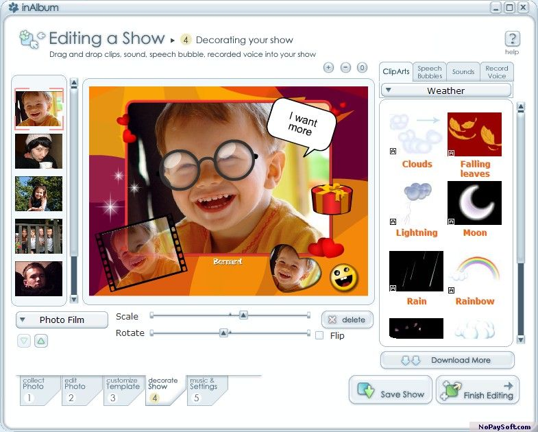 InAlbum Lite 1.5 program screenshot