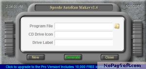 Speedo Autorun Maker 1.2 program screenshot