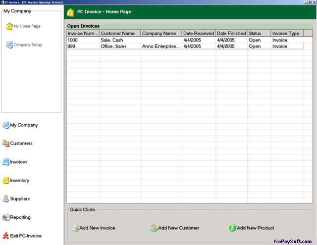 PC Invoice Free Edition 2.10 program screenshot