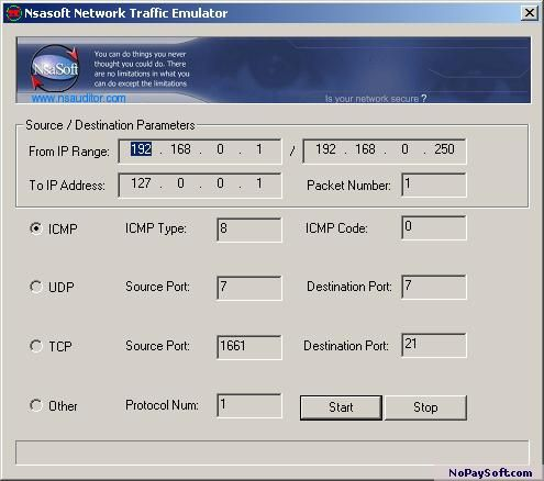 TrafficEmulator 1.3 program screenshot