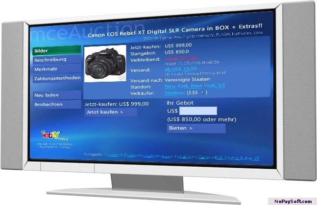 mceAuction 1.0 program screenshot