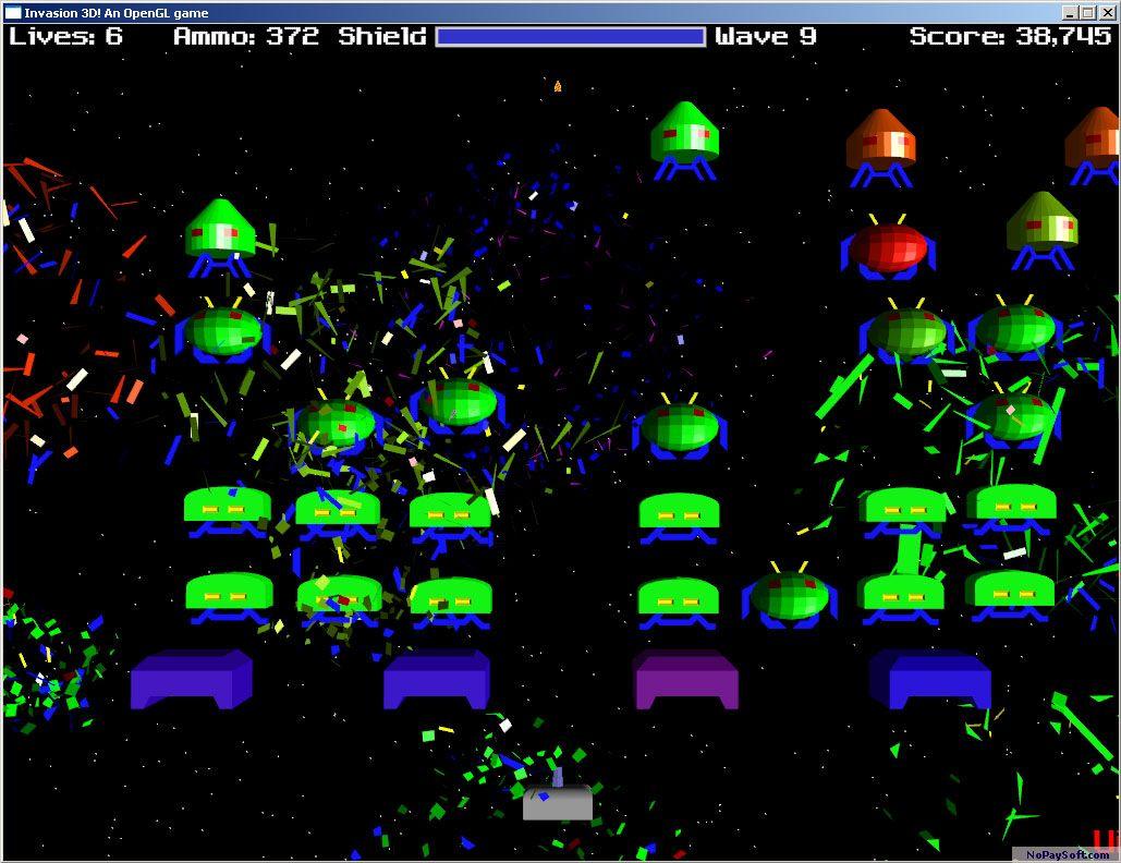 Invasion 3D 1.0-Win32 program screenshot