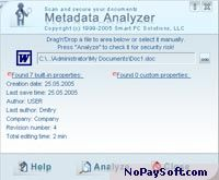 Metadata Analyzer 2.0 program screenshot