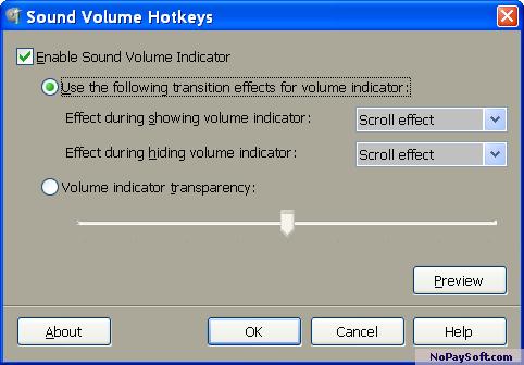 Sound Volume Hotkeys 1.0 program screenshot