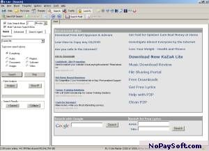 KaZaA Lite 2.7 program screenshot