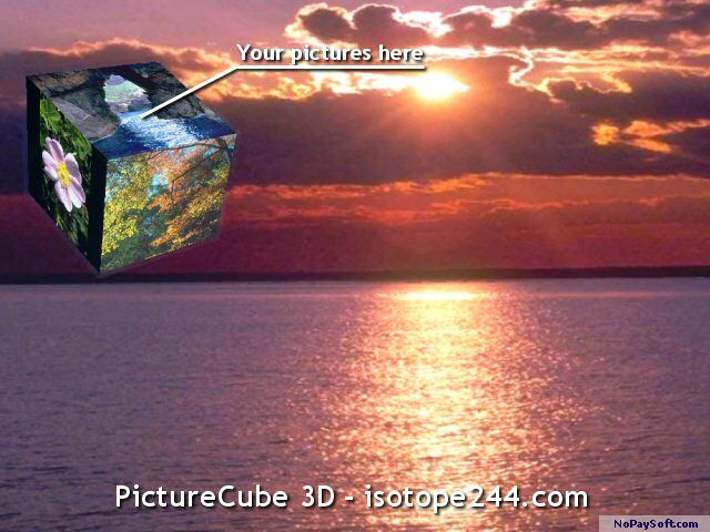 Picture Cube 3D 1.1 program screenshot
