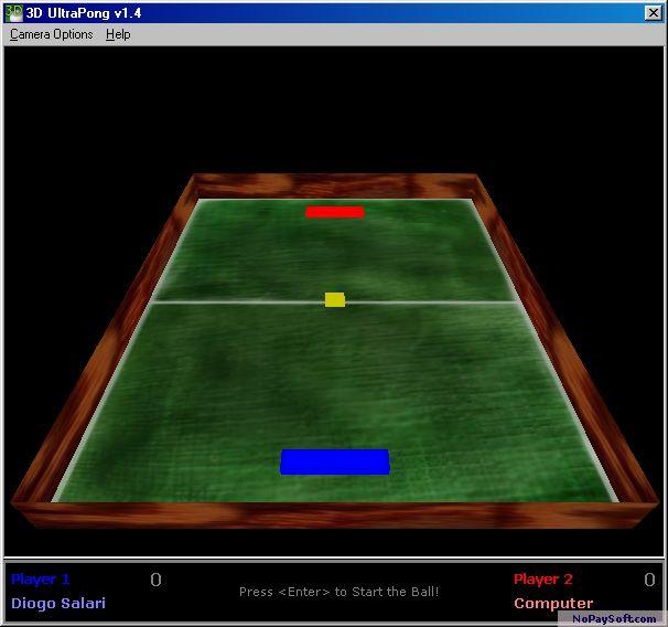 3D UltraPong 1.4 program screenshot