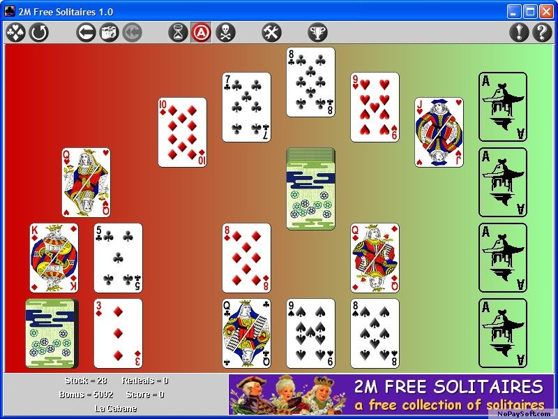 2M Free Solitaires 1.0a program screenshot